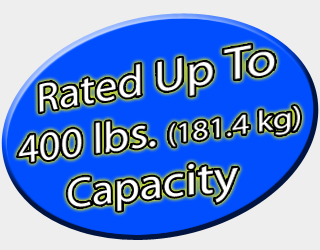 Rated up to 400 lb. capacity